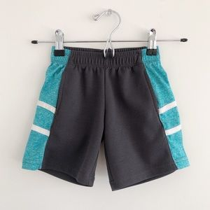 Body Glove Gray & Teal Athletic Shorts 2T Toddler